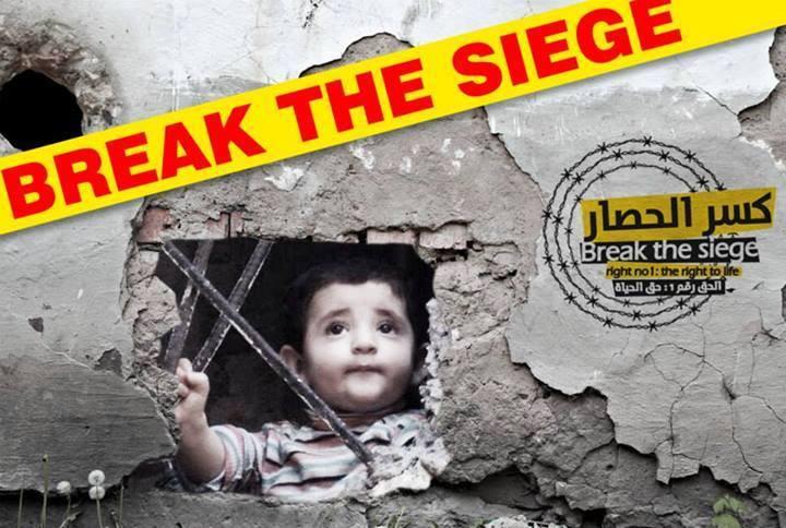 Niños de los campamentos de refugiados palestinos al sur de Damasco