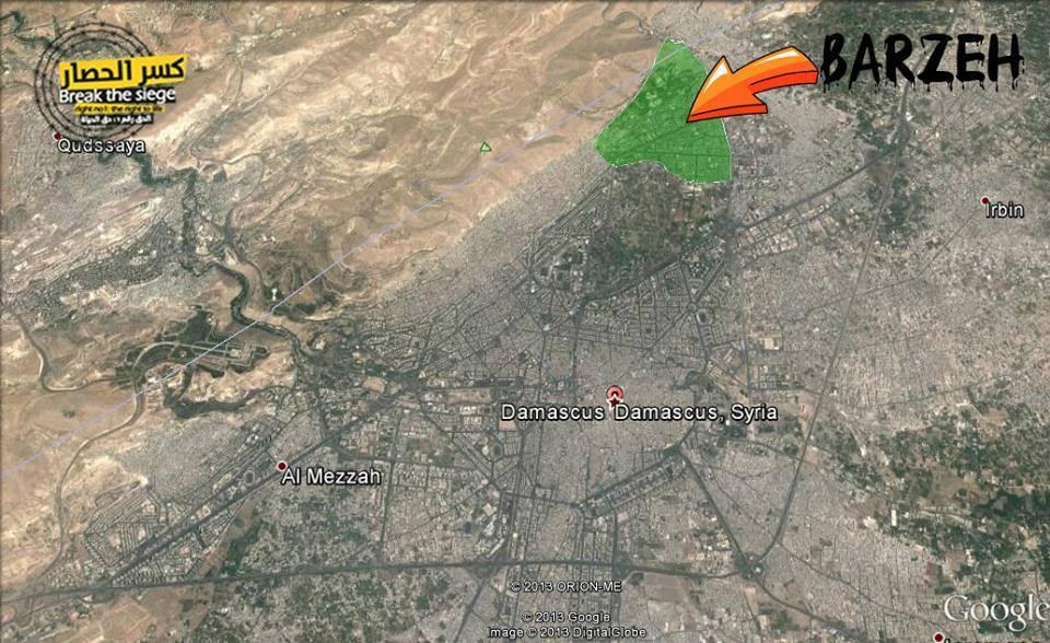 Área de Barzeh en Damasco