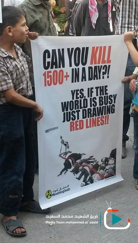 """""""¡¿Puedes matar a más de 1500 en un día?!  .... ¡Sí, si el mundo está ocupado sólo dibujando líneas rojas!"""""""