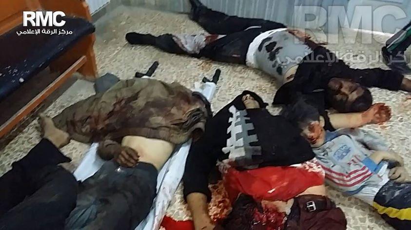 Los cadáveres de algunas de las víctimas